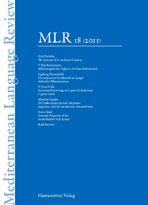 [The Mediterranean Language Review]